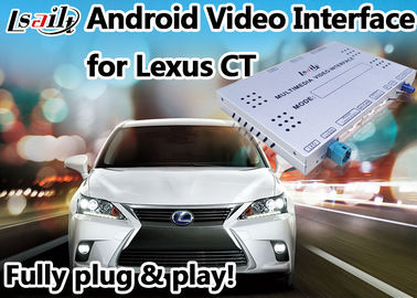 China Android 6,0 Video de Interfacekostuum van Lexus voor 2012 of recenter CT steun4k Videospel leverancier