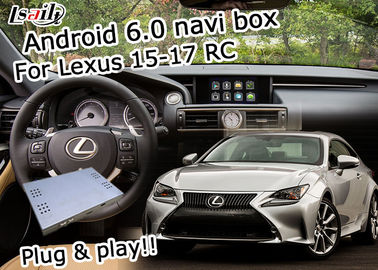 China De videointerface Android 6,0 van Lexus navigatiedoos voor youtube van Lexus RC 2015-2017 waze leverancier