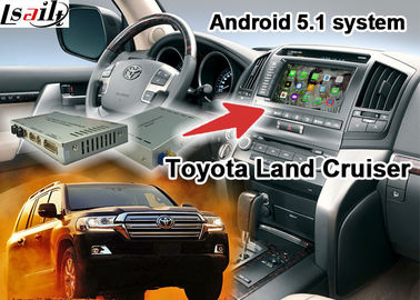 China Van de de Interfaceverbetering van de Toyota Land Cruiserlc100 LC200 Android Navigatie Video de Aanrakingsnavigatie WIFI verdeler